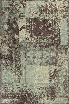 RugStudio presents Kas Allure 4053 Blue / Mocha Hand-Tufted, Good Quality Area Rug