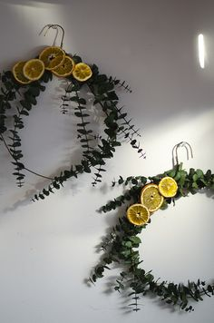 Eucalyptus and Dried Orange Wreath DIY on juliettelaura.blogspot.com