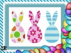 10EMBROIDERY Pattern EASTER Egg With Ears 3 Eggs PHOTO (38K)
