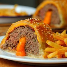 Giant Cheeseburger Wellington - Twisted (Could use ground turkey or pork instead)