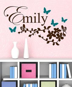 With this personalized bitty butterfly branch decal set, whimsy enters the room and a new atmosphere of playfulness fills the air. Each piece is made of durable, high-grade vinyl for years of enjoyment.