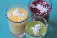 Smoothies alcoolisés pour le #brunch. #smoothies #recette #cocktails