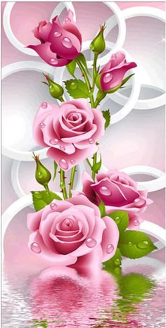 Diy Diamond Painting Cross Stitch Pink Rose Diamond Embroidery Flower Vertical Print Round Drill Home Decor Beautiful Flowers Wallpapers, Beautiful Rose Flowers, Beautiful Nature Wallpaper, Exotic Flowers, Purple Flowers, Rose Flower Wallpaper, Butterfly Wallpaper, Diamond Drawing, 5d Diamond Painting