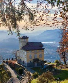 Things to do in Lugano – A Trip to Monte Brè Grand home inspired by a stately English country manor // Listed by: Loney & Worley Lugano, Rooftop Bar Bangkok, Places To Travel, Places To Visit, English Country Manor, Stuff To Do, Things To Do, Tourism Website, Grand Homes