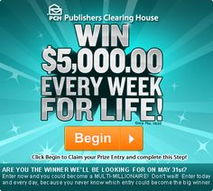 Who doesn't want to win free money from PCH?