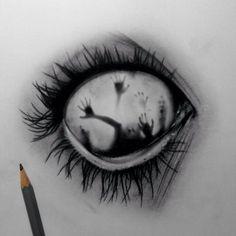 Résultats de recherche d'images pour « drawings of creepy eyes Creepy Drawings, Creepy Art, Cool Drawings, Drawing Sketches, Creepy Sketches, Drawings Of Eyes, Drawing Ideas, Drawings With Meaning, Demon Drawings