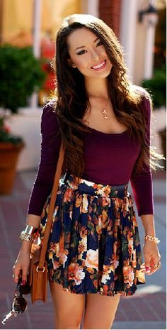 Summer casual style The Fashion: Gorgeous dress black fur Summer outfits Teen fashion Cute Dress! Clothes Casual Outift for • teenes • movies • girls • women •. summer • fall • spring • winter • outfit ideas • dates • school • parties mint cute sexy ethnic skirt