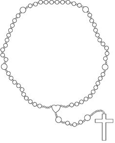 Rosary Coloring Page Clip Art