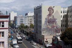 Gargantuan Street Murals by Aryz street art murals