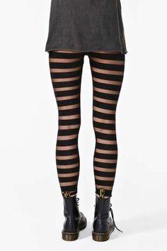 Mesh Stripe Leggings