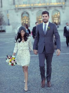 The intimacy of a city hall wedding is beautiful. And the clothes are lovely and humble. hall wedding dresses winter Plan Your Perfect City Hall Wedding Wedding Dress Winter, Casual Wedding, Trendy Wedding, Wedding Styles, Wedding Photos, Wedding Dresses, Luxe Wedding, Wedding Black, Hair Wedding