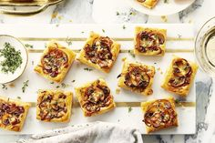 All the flavours of Beef Wellington made into this bite sized melt-in-your-mouth morsels. Perfect for holiday entertaining. Campbells Soup Recipes, Appetizer Recipes, Appetizers, How To Cook Mushrooms, Beef Wellington, Tasty Bites, Caramelized Onions, Original Recipe, Finger Foods
