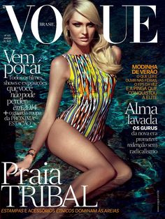 Candice Swanepoel in Vogue Brazil, January 2014.
