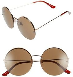 847652e7d83a2 Shop for Women s Rimless Round Sunglasses - Brown by BP at ShopStyle.