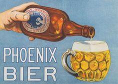 Albert Fiks (1908-1945) - Phoenix Bier reclamebord Phoenix, Barware, Internet, Clouds, Logo, Beer, Kunst, Logos, Logo Type