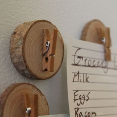 Wooden Fridge Magnet Clips - Darby Smart