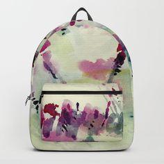 Flower Impression / Meadow Wind Backpack by rsstudio Backpacks, Flowers, Bags, Stuff To Buy, Accessories, Design, Handbags, Taschen, Women's Backpack