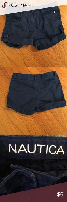 Nautica Shorts Dark blue shorts. Adjustable waist with buttons. 100% cotton. Made in Vietnam. Nautica Bottoms Shorts