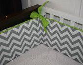 If #3 is a boy, I am getting myself, uh, him, some chevron crib bedding!