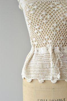 Gualala sweater vintage crochet sweater 1970s by DearGolden