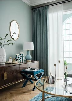 Sea Green Luxury Matt Velvet Curtains Custom Made Curtain Panels Rod Pocket Panels Sea Green Luxury Matt Velvet Curtains Custom Made Curtain Panels Rod Pocket Panels Justyna Siry Home decor nbsp hellip Room curtains Home Curtains, Green Curtains, Colorful Curtains, Panel Curtains, Curtain Panels, Velvet Curtains Bedroom, Bright Curtains, Blue Velvet Curtains, Blue Curtains Living Room