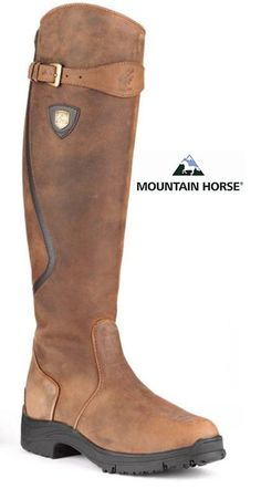 """Mountain Horse Winter """"Snowy River"""" Boots / love the functionality combined with style Equestrian Boots, Equestrian Outfits, Equestrian Style, Barn Boots, Shoe Boots, Horse Riding Boots, Over Boots, Horse Fashion, Horse Gear"""