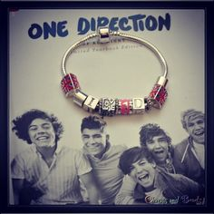 I love One Direction bracelet di CHARMSandBEADSsol su Etsy, €12.00