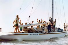 Australia II - 1983 America's Cup - a moment in history J Class Yacht, Classic Yachts, Best Boats, Motor Yacht, Boat Design, Set Sail, Power Boats, Yacht Club, Sailing Ships