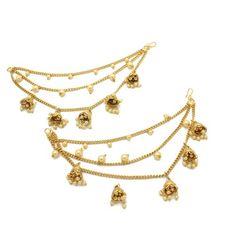 Jhumki Earrings, Dangle Earrings, Hair Slide, Pearl Color, Silver Pearls, Dangles, Pairs, Chain, Detail