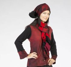 A personal favorite from my Etsy shop https://www.etsy.com/listing/545271042/cashmere-ruffle-scarf-red-and-black-from