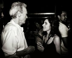Two awesome people: Clint Eastwood and PJ Harvey