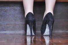 Decorar zapatos con purpurina