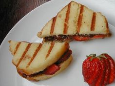 """Chocolate-Strawberry Panini: """"The poundcake was so nice and soft — a real treat! I don't have a panini grill so just seared it in a skillet with a pat of butter."""" -BerrySweet"""