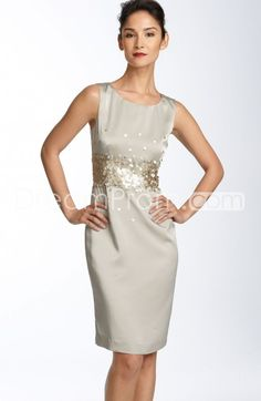 Buy Cheap Cheap Elegant Sequins A-Line Short/Mini-Length Round-Neck Mother Of The Bride Dress TF310072 Default Category under $193.19 only in Udressprom.