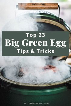 Get the top 23 Big Green Egg Tips & Tricks. Learn the basics, some advanced tips and amazing recipes for your Big Green Egg Smoker. Big Green Egg Ribs, Big Green Egg Brisket, Big Green Egg Smoker, Green Egg Grill, Green Eggs And Ham, Green Egg Cooker, Egg Burger, Smoked Pork Ribs, Green Egg Recipes