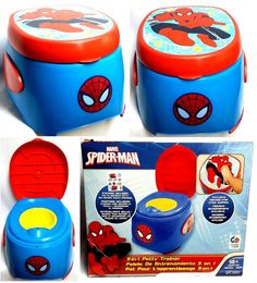 Ginsey Marvel Spider-Man 3-In-1 Potty Trainer 18+ Mos No-Skid Step Stool Surface #MarvelbyGinsey
