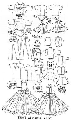 Skipper doll Sewing Pattern: Teen Scene. Fits Blythe.. $6.50, via Etsy.