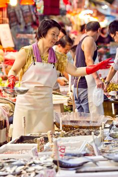 Wanchai market | Hongkong Taiwan Travel, China Travel, Pearl River Delta, Plastic Aprons, Textiles Sketchbook, Great Wall Of China, World Market, International Trade, Taboo Club
