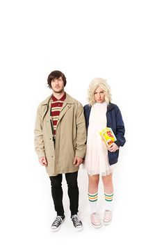 Channel your inner Eleven with this Stranger Things costume! Most items can be found at a thrift store (or a grocery store).