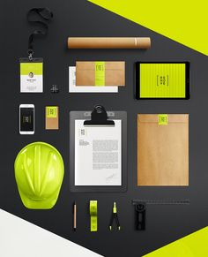 Renove brand identity on behance acme Stationary Branding, Stationary Design, Corporate Branding, Logo Branding, Business Cards Layout, Business Card Design, Brand Identity Design, Branding Design, Free Printable Business Cards