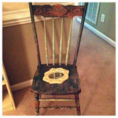 Love love love my chair. #shabbychic #diy