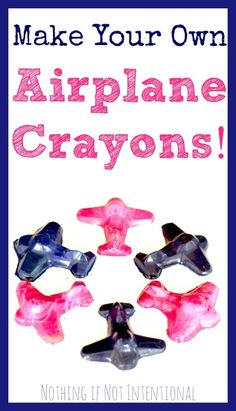Make your own airplane crayons. These would be fun to make as gifts for Christmas or birthdays!