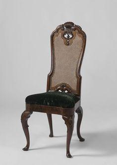 Stoel met schelpmotief, anoniem, 1700 - 1750