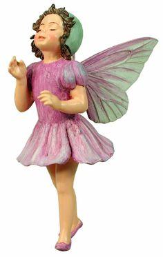 Lilac Fairy Ornament  Cicely Mary Barker Faerie Figurine Miniature Garden