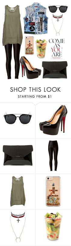 """""""come as you are"""" by vampirata ❤ liked on Polyvore featuring Christian Louboutin, Givenchy, Faith Connexion, Charlotte Russe and Aroma"""