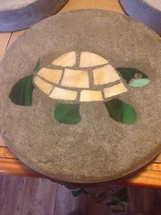 Turtle Stained Glass Stepping Stone on Etsy, $15.00