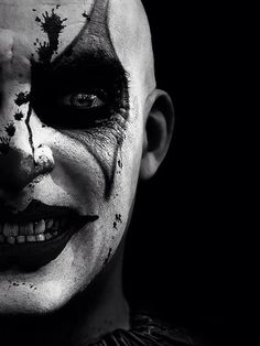 Scary clown in blood