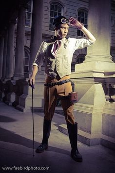I have an interest for steampunk things, and this outfit is steampunk. I really like the outfit.