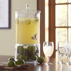 Shelby Beverage Dispenser with Two Compartments Holds Two Gallons