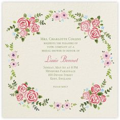 Rose Garland - Paperless Post